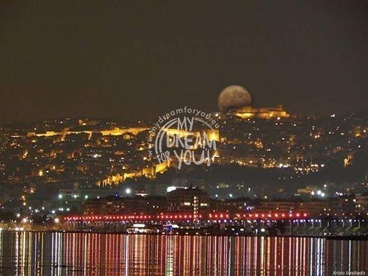Vollmond Thessaloniki